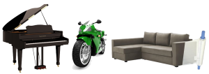 piano motorcycle furniture storage Bay Area