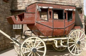 old fashioned Livermore stagecoach