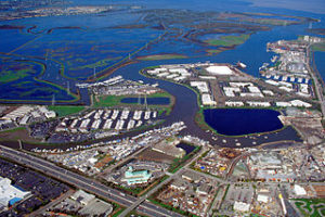 Redwood City Port aerial view